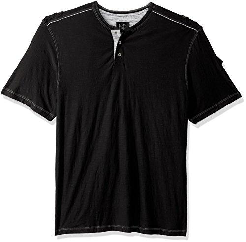 Big and Tall Short Sleeve Henley Shirt, Ryker Black, 2XB (Big And Tall Henley Shirts)
