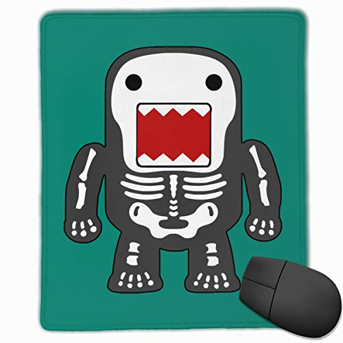 - Happy Index Funny Cool Domo-kun Skeleton Mouse Pad with Stitched Edge, Premium-Textured Customized Non-Slip Rubber Mousepad Gaming Mouse Pad, 8.7x7.1x0.12 in