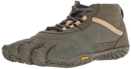 Vibram Five Fingers Men's V-Trek Trail Hiking Shoe (43 EU/9.5-10 US, Military/Dark Grey)
