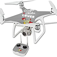 MightySkins Skin For DJI Phantom 4 Quadcopter Drone – Crazy Chicken Lover Protective, Durable, and Unique Vinyl Decal wrap cover | Easy To Apply, Remove, and Change Styles | Made in the USA
