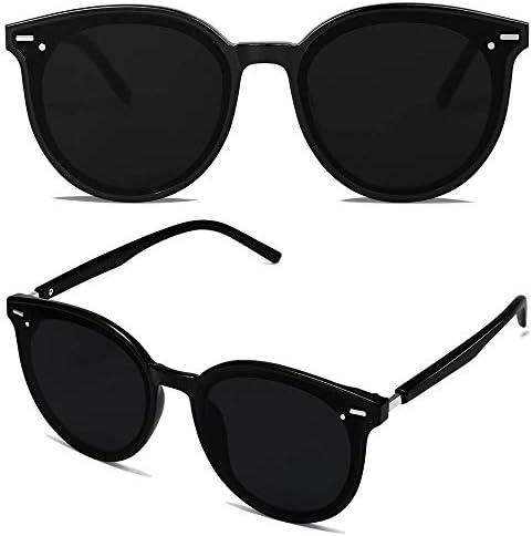SOJOS Classic Round Retro Plastic Frame Vintage Large Sunglasses BLOSSOM SJ2067