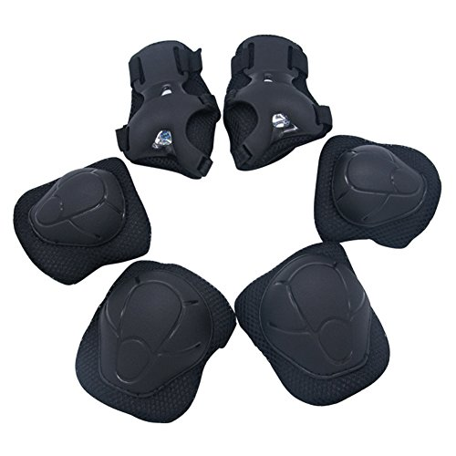 Kid Protective Gear Set Bioamy Knee Pads Elbow Pads with Whist Guards Sport Safety Guard for Cycling Skateboard Scooter Bmx Bike and Other Outdoor Sports Activities