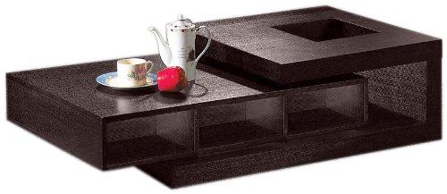 (Legacy Commercial Armen Living Modern Wenge Oak Veneer Coffee Table, Espresso)