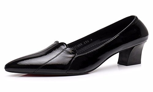Alto Cuero Cm de Primavera Brillante De Zapatos Cuero De Tacones Todo 6 De Cuero De Tacon De Zapatos con Zapatos Zapatos Mujer De Pretty KPHY Nueve De Gules Superficial de Mujer Tipo Y Y Treinta Laca WaS0q1nUw