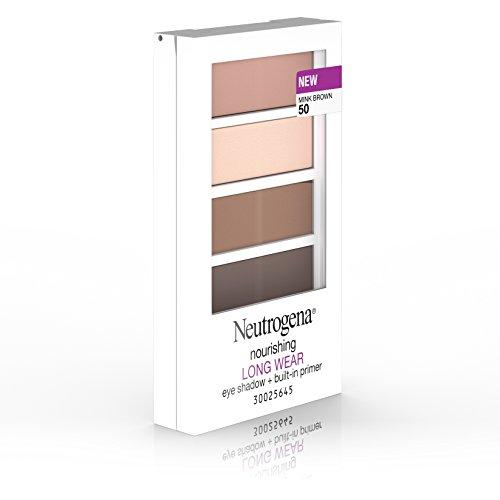 Neutrogena Nourishing Long Wear Eye Shadow + Built-In Primer, 50 Mink Brown, .24 Oz.