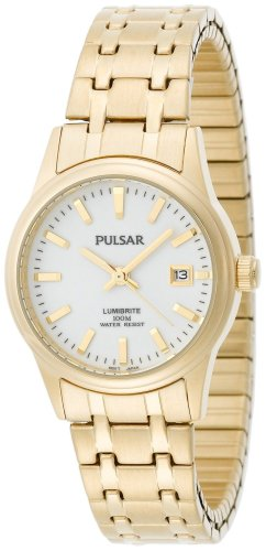 PULSAR Women's PXT656 Expansion Gold-Tone Stainless Steel...