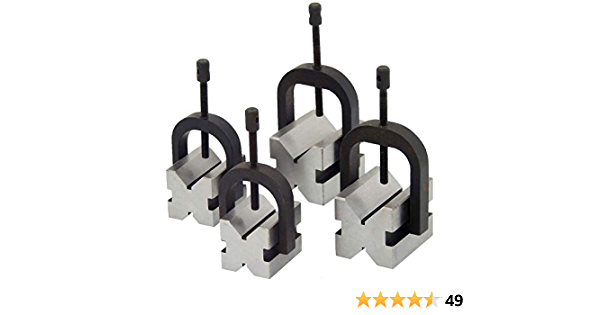4 Pcs V-Block Clamp Bar Double Sided 90° Precision Hardened Steel Machinist Tool