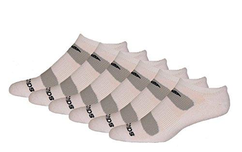 Saucony Men's 6 Pack Performance Comfort Fit No-Show Socks,