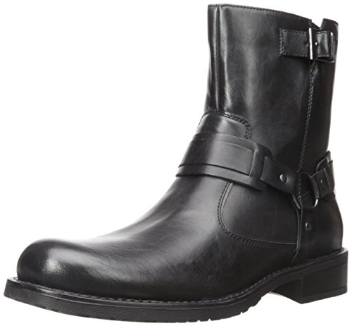 Kenneth Cole Unlisted Men's Slightly Off Harness Boot, Black, 8 M US