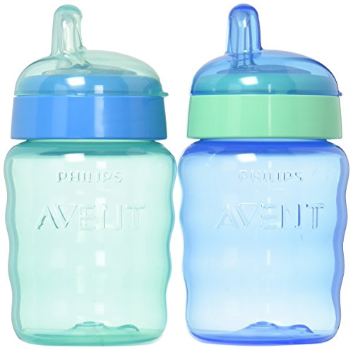 Philips Avent My Easy Sippy Cup, 9 Ounce, Blue/Green, Stage 2 (Colors May Vary) (Best Sippy Cup For 14 Month Old)
