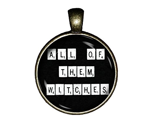 All Them Witches Necklace Occult Handmade Rosemary's Baby Jewelry Gift Pendant Charm