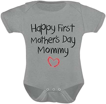 TeeStars Happy First Mothers Day Mommy Bodysuit Baby Onesie