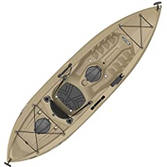 "Lifetime Tamarack 120 Angler Kayak - The 120"" adult kayak has a 275 lb. weight capacity and comes in tan. This model is a ""sit-on-top"" (SOT) kayak and comes with a padded seat back, front and rear shock cords, two 6"" storage hatches in the re..."