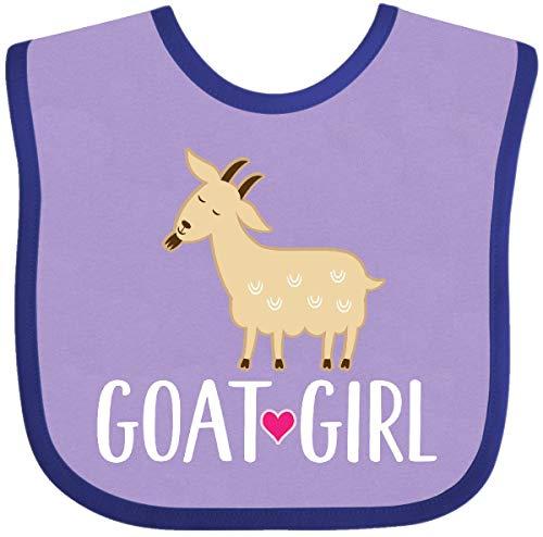 Inktastic - Goat Girl Farm Animal Baby Bib Lavender and Purple 2f366