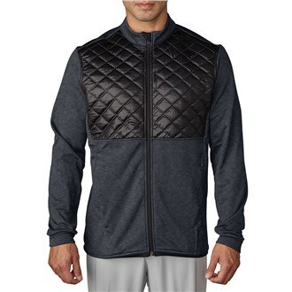 (adidas Golf 2016 Climaheat Prime Fill Insulated Quilted Mens Golf Thermal Jacket Dark Grey Heather/Black Medium)