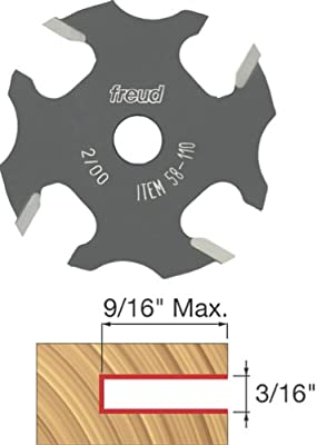 Freud 58-110 3/16-Inch 4-Wing Slot Cutter for 5/16 Router Arbor