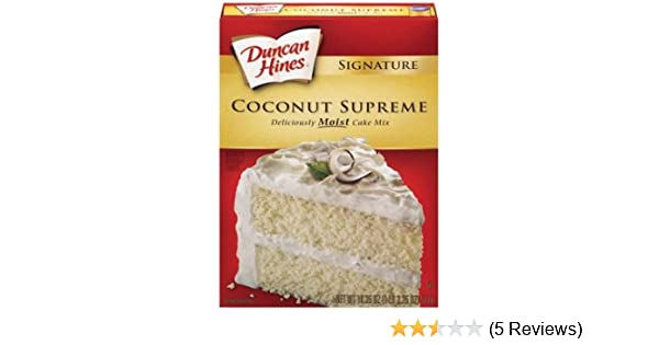 Com Duncan Hines Cake Mix Coconut Supreme 18 25 Oz 6 Pack Grocery Gourmet Food