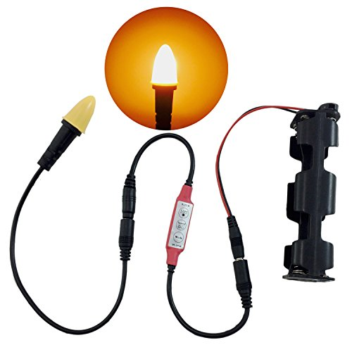 Candle flame light LED kit for props scenery theatrical candles torches lanterns and escape room props operates on 9 volt battery or 12 volts DC 1,722 kelvin candlelight with flicker control by LED Lighting