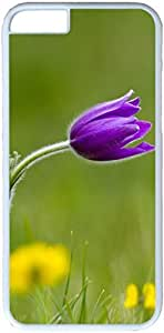 Grass Purple Flower Insect iPhone 6 Plus Case, iPhone 6 Plus 5.5 inch Cases PC White Hard Shell Cover Skin Cases bluesky's iphone 6 Individuality case wangjiang maoyi