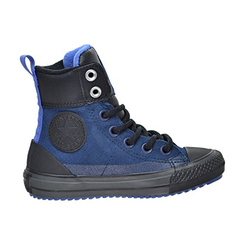 Converse Chuck Taylor All Star Asphalt Boot Hi Navy/Oxygen Blue/Black (Little Kid/Big Kid) (10.5 Little Kid (Converse High Boots)