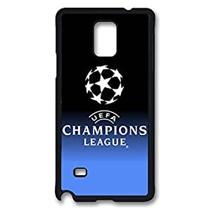 Note 4 Case, Galaxy Note 4 Case, Personalized Hard PC Black Shock absorbing Protective Case Cover for Samsung Galaxy Note 4 - Champions League
