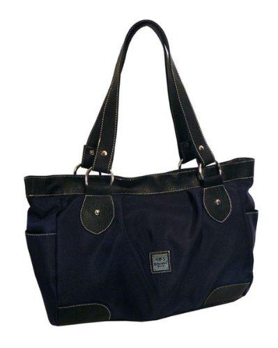 Damenhandtasche aus Nylon in braun
