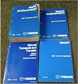 2007 mazda mazda 3 mazdaspeed3 workshop service shop repair manual set w  ewd: mazda: amazon com: books