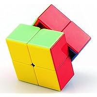 Shengshou 2x2x2 Speed Magic Cube Casse Tête Puzzle Rainbow Sans Autocollant