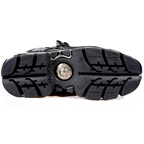 New Biker Cuir Rock Goth bottes goujon noir NEWROCK 110 vq1xdZ6w