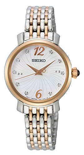 Seiko Reloj Analógico para Mujer de Cuarzo con Correa en Acero Inoxidable SRZ524P1: Amazon.es: Relojes