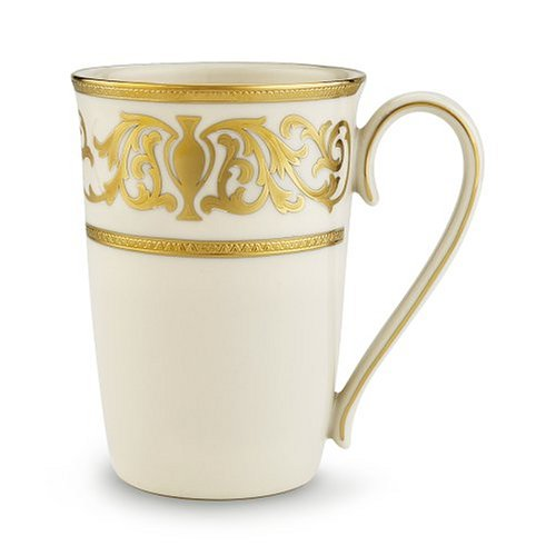 Lenox Westchester Gold Banded Ivory China Accent Mug by Lenox