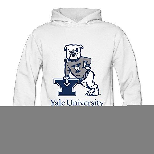 Geheimnis Gross Women's Yale University Bulldogs 6 Hoodies Sweatshirt Size M US White