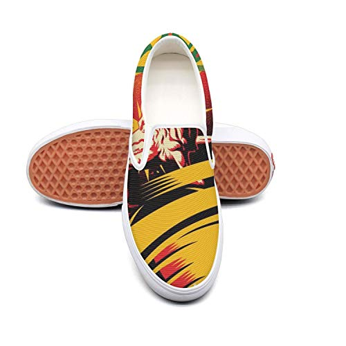 KKLDFD Bad-Funny-Brains-Love-Into The Future Womens Canvas Sneakers Slip-On Classic Retro