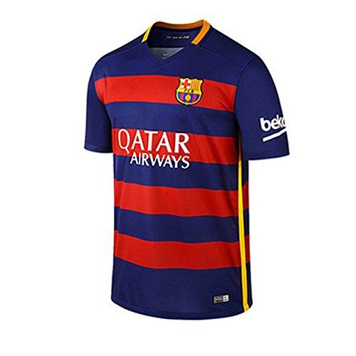 JAN.X SPORT FC Barcelona Home Soccer Jersey Football Shirts One Set 2015-2016 (S, Jxs adult 1018 NO.11 NEYMAR.JR.)