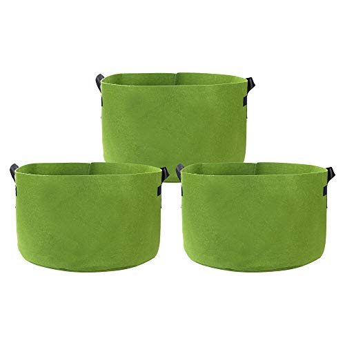 (GEMGO 3 Pack Potato Grow Bag, 15 Gallon Aeration Waterproof Fabric Sweet Potato Planter, Vegetable Peanut Growing Box Bucket Pot for Nursery Garden (15 Gallon, Green))
