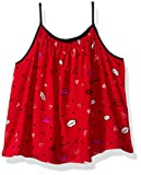 Calvin Klein Big Girls' Lip Print Tank, Red, X-Large (16)