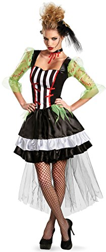 Monster Bolts Headband (Disguise Kaleidoscope Monsterous Bride Womens Adult Costume, Black/White/Red, Large/12-14)