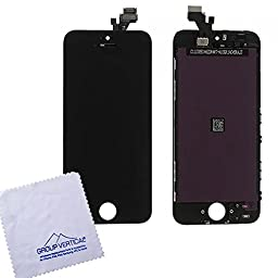 Group Vertical LCD Display Screen with Touch Screen Digitizer for iPhone 5 - Black