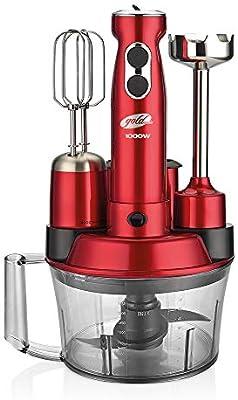 GoldMaster Elena Max Robot de cocina, licuadora, Negro, Rojo rojo: Amazon.es: Hogar