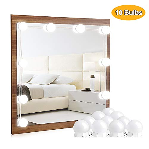 Vanity Lights for Mirror – Hollywood Style LED Vanity Mirror Lights Kit with Dimmable Light Bulbs for Makeup Dressing…