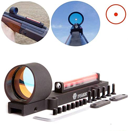 WIngots 1x28 Red Dot Red Fiber Holographic Scope Sight Dot Sight Ultralight for Shotgun Rib Rail Rifle for Hunting