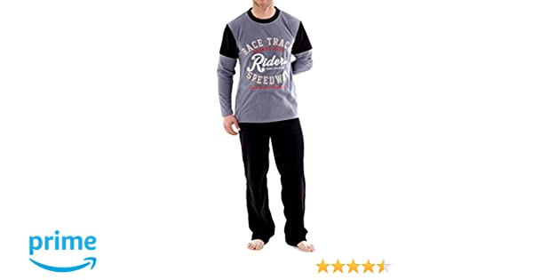 Harvey James - Sets de pijama Hombre - Gris - XL: Amazon.es: Ropa y accesorios
