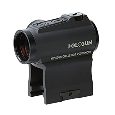 Holosun HS503GU Circle Micro Red Dot Sight,2 MOA Dot,65 MOA Circle,Black