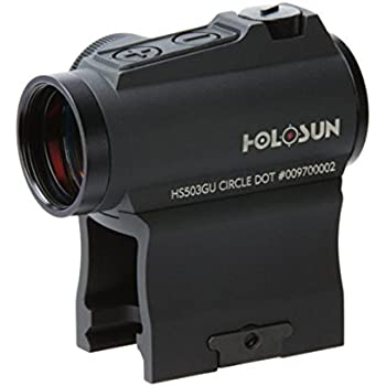 HOLOSUN HS503GU Circle Micro Red Dot Sight, 2 MOA Dot, 65 MOA Circle, Black
