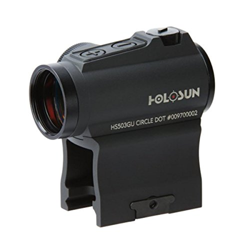 HOLOSUN HS503GU Circle Micro Red Dot Sight, 2 MOA Dot, 65 MOA Circle, Black by HOLOSUN