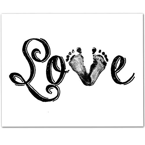 (Love - Baby Feet - 11x14 Unframed Art Print - Makes a Great Gift Under $15 for Nursery or Child's Room Decor)