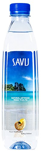 Savu Natural Artesian Water from Fiji (16.9 fl oz bottles, case of 24)