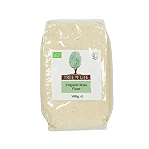 Tree of Life Organic Soya Flour 500g - Pack of 2