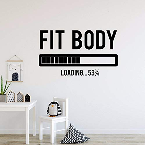 LSFHB Fit Body Vinyl Art Wall Sticker Fitness Going Removeable Decal Fitness Center Bedroom Home Decoration Art Poster -