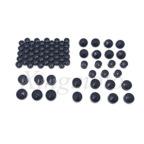NBX- 79pcs black Caps Dress Kit For Compatible with 99-16 Harley Big Twins Engine Full Bolt Covers